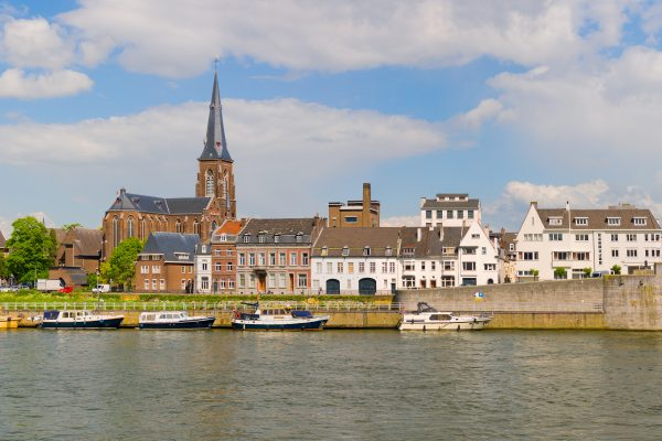 Panorama of Maastricht in a summer day